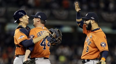 Astros are appearing in the playoffs for the first time since 2005 [Adam Hunger-USA TODAY Sports]