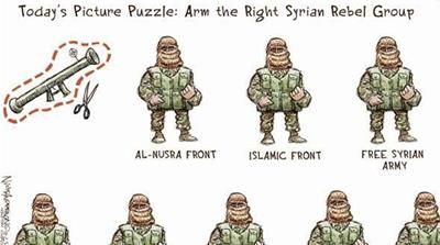 Cartoon war over Russia's role in Syria