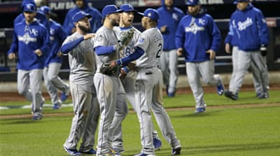 The Royals will seek to end the series with a Game Five win in New York on Sunday [AP]