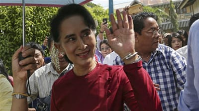Suu Kyi was officially re-elected to her seat in the lower house of parliament on Wednesday on Wednesday [Reuters]