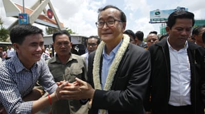 It is not clear if Sam Rainsy will be arrested since he has parliamentary immunity [Heng Sinith/AP Photo]