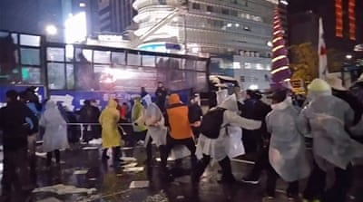 Dozens injured at South Korea anti-government protest
