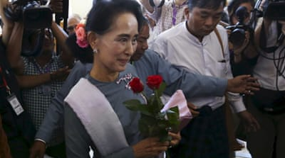 Aung San Suu Kyi's NLD party swept the recently held parliamentary elections [Reuters]