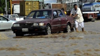 Schools and universities suspended classes in both Jeddah and Mecca, the civil defence said [AFP]