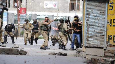 Showkat Shafi, a photojournalist, was beaten and detained by security forces in Indian-administered Kashmir [Faisal Khan]
