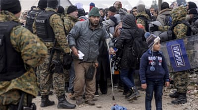 Macedonia, Serbia, Croatia and Slovenia are restricting the flow of refugees  [EPA Georgi Licovski]