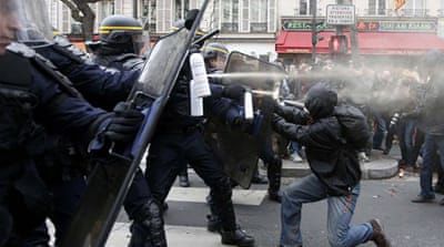 French police fire tear gas to disperse climate protest