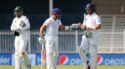 England had lost the second Test in Dubai