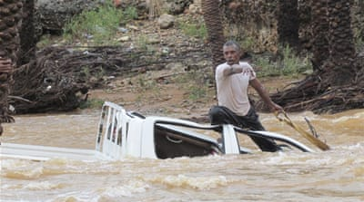The cyclone triggered heavy flooding and caused damage in the southeastern provinces of Hadramawt and Shabwa [Reuters]