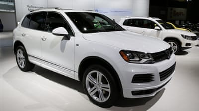 Volkswagen said the recall affected 391,000 vehicles of its Toureg model[Nam Y. Huh/The Associated Press]