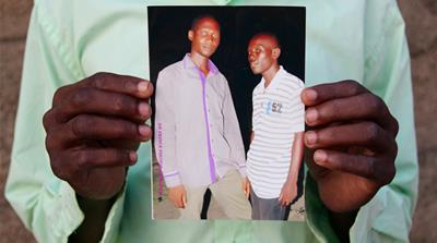A recent picture of Aliyu Mohammed, right, and his best friend, Mohammed Musa [Femke van Zeijil/Al Jazeera]