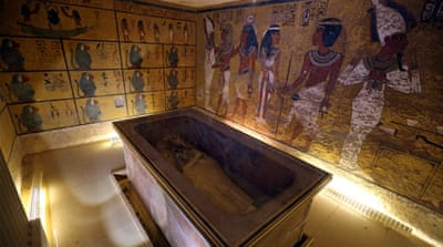 An interior view of the King Tutankhamun burial chamber in the Valley of the Kings, Luxor, Egypt [EPA]
