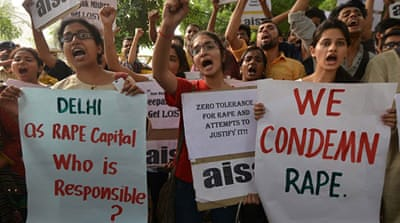 Anti-rape protests swept Delhi after a high-profile gang rape case in 2012 [Getty Images]