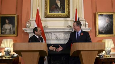 Egypt leader's contentious UK visit