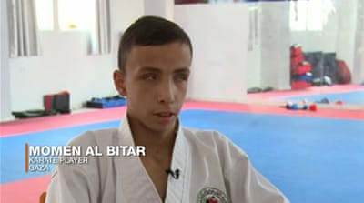 Blind karate kid dreams of representing Palestine