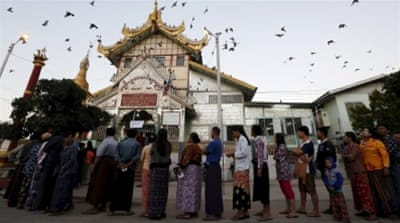 Myanmar holds crucial parliamentary election