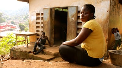 Seventeen-year-old Musu Monsoray gave birth to a stillborn child during the Ebola outbreak [Jo Lehmann/WaterAid]