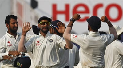 Indian spinner Ashwin captured 12 wickets in the match that finished on the third day [Reuters]