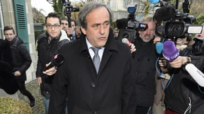 Platini and Blatter were suspended in October over a $2.1m payment to the UEFA chief [EPA]