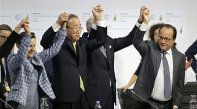 Historic deal comes after years of often-fruitless negotiations and climate change denials [Reuters]