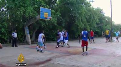 Basketball scoring a point in US-Cuba relations