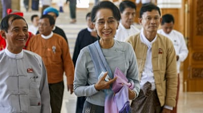 There is speculation Aung San Suu Kyi will try to become president despite constitutional restrictions [AP]