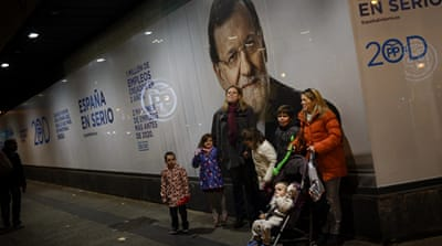 Spaniards discussed their voting options in the streets ahead of general elections in Spain [Jon Nazca/Reuters]