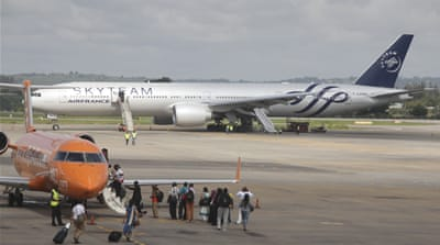 Air France passengers questioned over suspected bomb