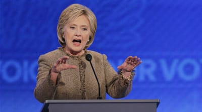Hillary Clinton apologised for using a private email server while serving as secretary of state [Reuters]