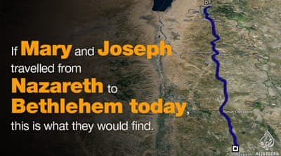 The journey from Nazareth to Bethlehem, today