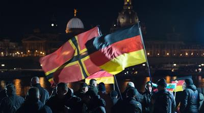 Pegida is a far-right movement in Germany against Muslim immigration [EPA]