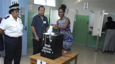 Nearly 71,000 eligible Seychellois voters were expected to participate in the three-day election [George Thande/Reuters]