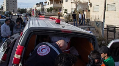 The recent escalation in violence has placed mounting pressure on the Palestine Red Crescent Society's volunteer medics [Jonathan Brown/Al Jazeera]