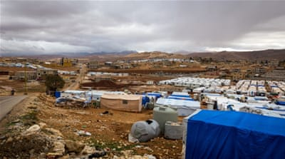 In Arsal, resources are stretched with the refugees living in cold and drafty tents [Getty]