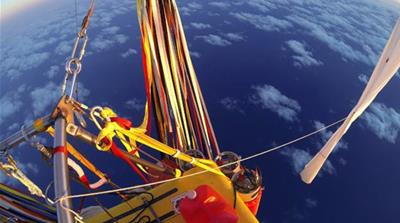 Balloonists complete record flight across Pacific