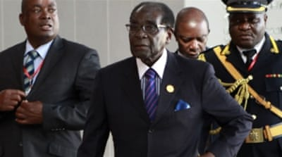 Mugabe described sanctions against Zimbabwe as 'wrong' in his closing speech of the AU summit [EPA]