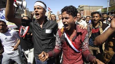 Yemen marks uprising anniversary with anti-Houthi rally