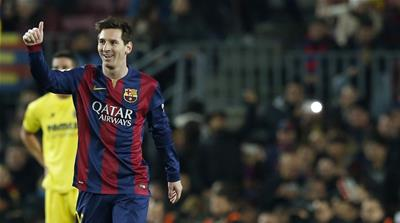 Messi helped his side win their 10th consecutive game in all competitions [Reuters]