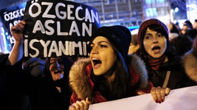 Thousands of women have rallied across the country over the weekend protesting the killing of Ozgecan [Getty]