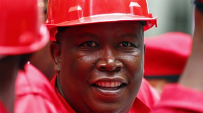 Julius Malema's EFF party has lit up parliament since joining the National Assembly in May [Reuters]