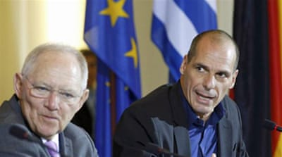 Greek PM Alexis Tsipras and Varoufakis, are meeting senior officials across Europe to seek support for a new debt agreement [Reuters]