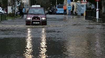 Cold, unsettled air has caused floods across parts of northern Spain [Reuters]