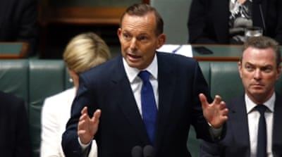 Abbott said that the troops would not be engaged in fighting [Reuters]