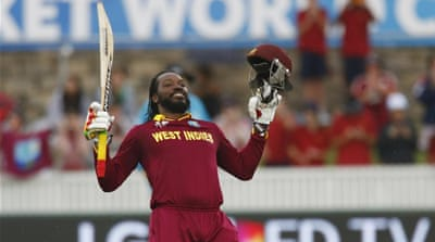 Gayle became only the fourth cricketer to score an ODI double century [Reuters]
