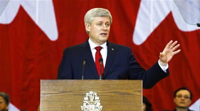 Harper could not have wished for a more compliant constituency, writes Kutty [Reuters]