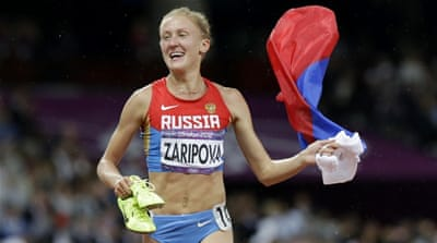 Olympic champion Zaripova was banned last Friday [AP]