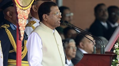 Sri Lanka's president has voiced willingness to work with the UN, but ruled out an international tribunal [AFP]