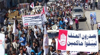 Al Jazeera's Jamal El Shayyal reports from Aden on protests against the Houthi coup in Yemen