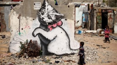 Banksy goes to Gaza