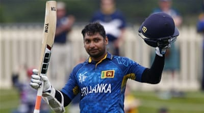 Sri Lanka had already booked a place in the quarter-finals but Sangakkara's insatiable appetite for runs continued unabated [Reuters]